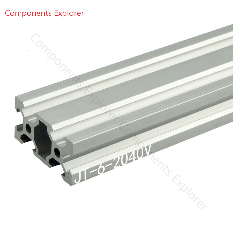 Arbitrary Cutting 1000mm 2040 V-slot Aluminum Extrusion Profile,Silvery Color.