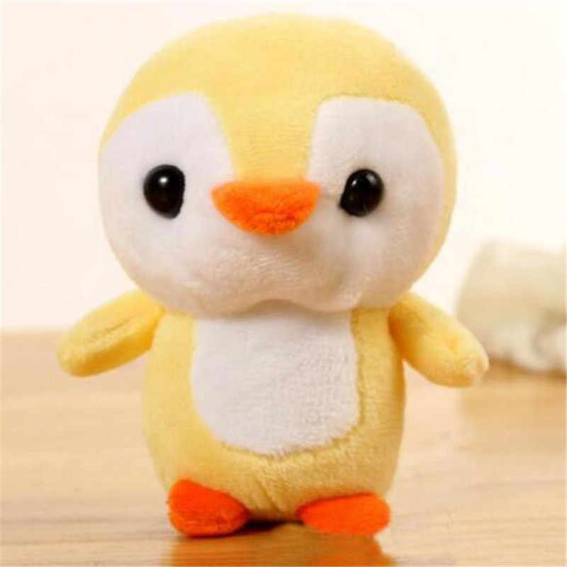 1PCS 12CM חיות פינגווין צעצועים קטן תליון בובות קריקטורה רך ממולא מיני קטיפה פינגווינים צעצוע לילדים בנות מתנות 4 צבע