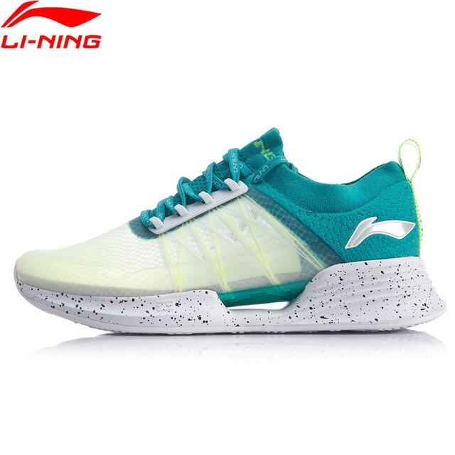 Li Ning Men CLOUD COOL Cushion รองเท้าวิ่งรองเท้า PROBAR LOC Breathable MONO เส้นด้าย LI NING CLOUD กีฬารองเท้ารองเท้าผ้าใบ ARHP031 SAMJ19