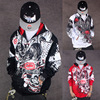 E BAIHUI Hoodies Men Sudaderas Hombre Hip Hop Mens Brand Letter Hooded Zipper Hoodies Oversize Street