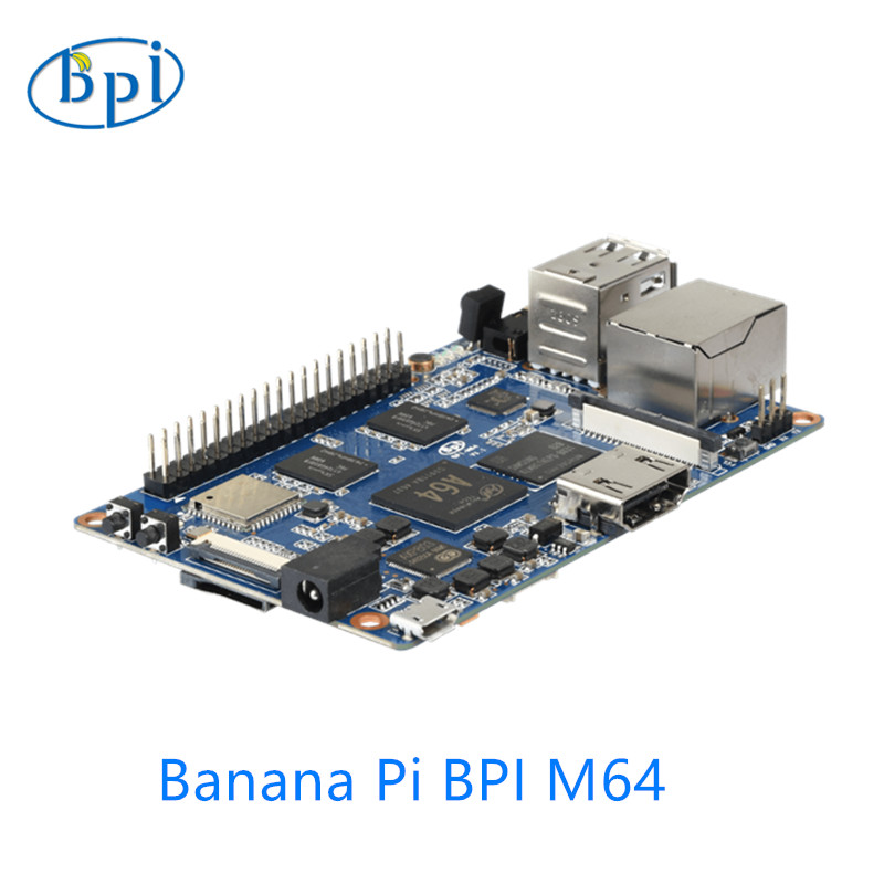 64-bit Quad-core mini single board computer BPI-M64 Banana Pi Board image