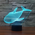 Linda Baleia 3D Conduziu a Iluminação Luz Da Noite Projeção Animal Bebê Candeeiro de Mesa USB Lâmpada de Cabeceira Luminaria LED Eletrônico Gadget Decor