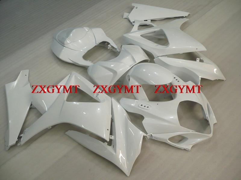 Plastic Fairings for GSXR 1000 2007 - 2008 K7 Fairing Kits GSXR 1000 2007 White Fairing GSX R 1000 08Plastic Fairings for GSXR 1000 2007 - 2008 K7 Fairing Kits GSXR 1000 2007 White Fairing GSX R 1000 08