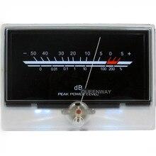Аудио Мощность Усилитель VU Meter Post Усилитель дб уровень заголовок с Подсветка Высокоточный