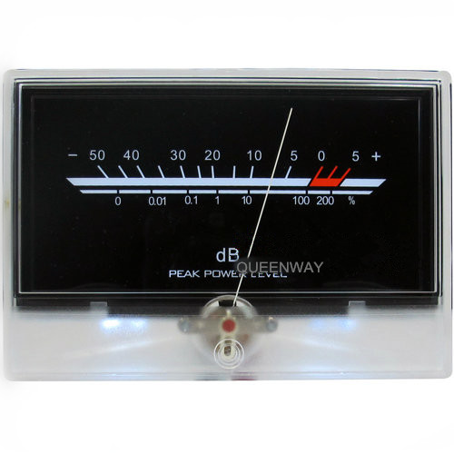 V-031 High-precision Audio Power Amplifier VU Meter DB Level Header Indicator Peak With Backlight