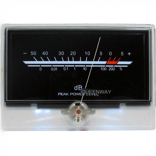 V-031 High-precision Audio Power Amplifier VU Meter DB Level Header Indicator Peak With Backlight