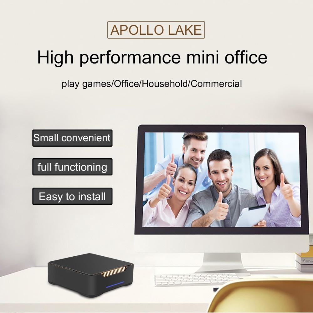 US $166 78 45% OFF|ACEPC AK3V Mini PC CPU Intel Celeron J3455 4GB 32GB 6GB  64GB Windows 10 HDD dual HDMI VGA USB 3 0 5G WIFI WIN 10 Pc Mini Linux-in