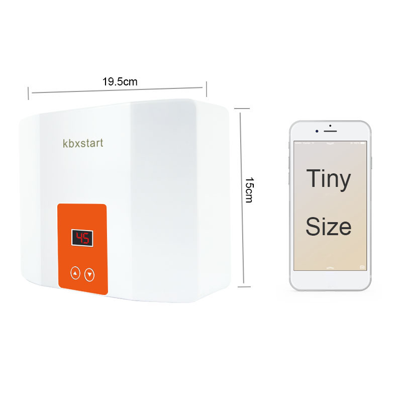 Mini Kitchen/Bathroom Wall Mounted Water Heater Instant Tankless Electric Hot Water Heater Thermostat Fast Heating Calorifier