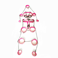 8pcs/set male chastity belt stainless steel chastity device with anal plug chastity cage male bondage cock ring sex toys for men