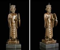 Медь латунь китайский ремесла украшения азиатских XD 003430 Книги по искусству деко Скульптура Древний Рим воин общие бронзовая статуя