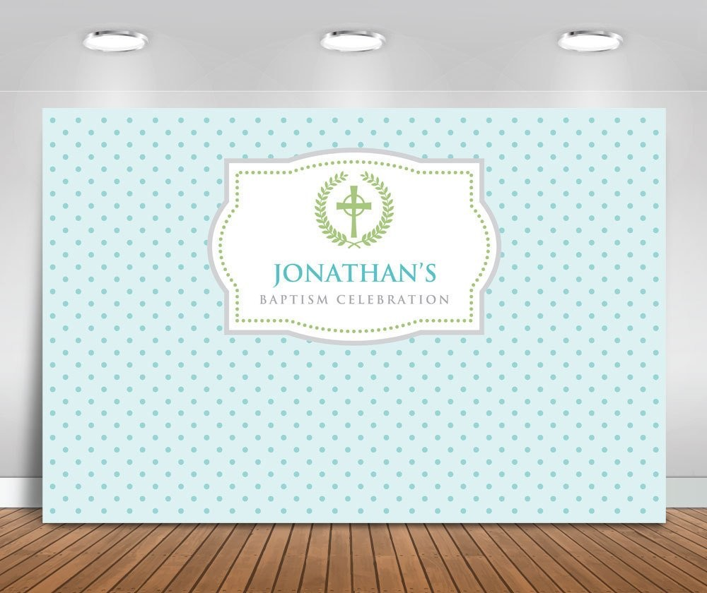 Custom <font><b>Boy</b></font> Christening Baptism Celebration <font><b>Baby</b></font> <font><b>Shower</b></font> <font><b>backdrop</b></font> High quality Computer print birthday background image
