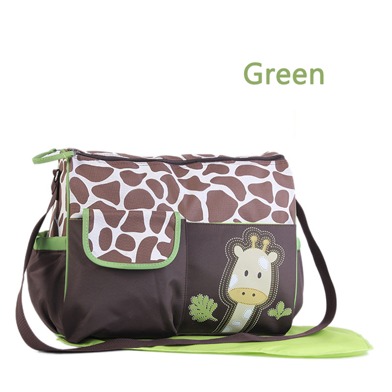 Langer Sac rose Red Rose À Girafe Main vert orange Bébé Imperméable Ensemble Maman Tapis Motif wS5Ev6qpP