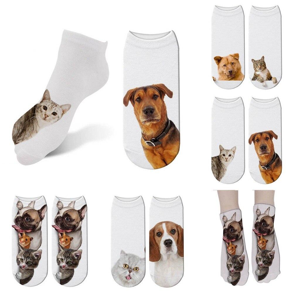 Cute Dogs Printing Women Socks 3D Cartoon Funny Crazy Amazing Novelty Print Ankle Socks Comfortable Sports Socks 6ZJQ-ZWS17