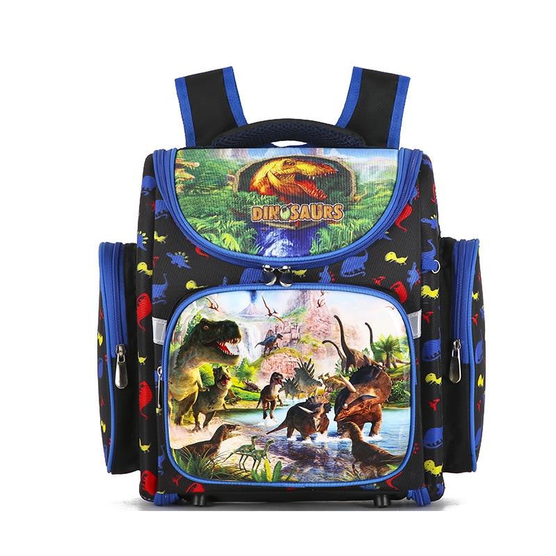 Quality Dinosaur Word Pattern School Bags For Boys Waterproof Orthopedic Backpacks Book Bag Satchel Knapsack Mochila Escolar