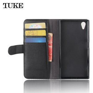 Image 3 - TUKE Genuine Leather Flip Case for Sony XA1 Plus Wallet Stand Cover For Sony Xperia XA1+ G3421 G3423 SM11L G3412 G3416 Phone Bag