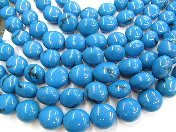 high quality natural turquoise beads nuggets freeform blue green jewelry beads 10-15mm full strand 16""
