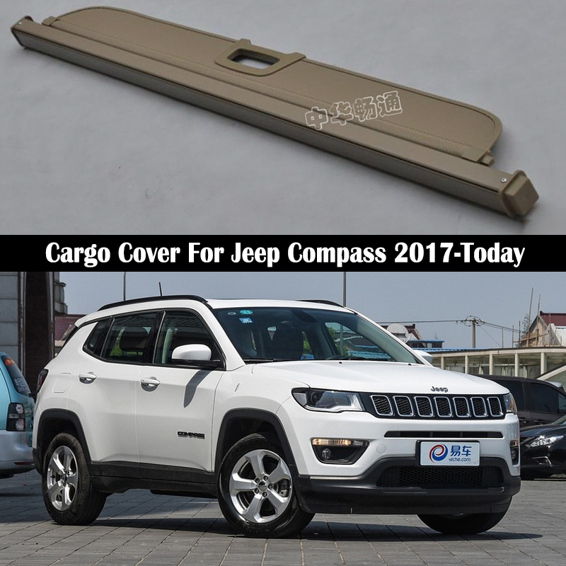 Rear Cargo Cover For <font><b>Jeep</b></font> <font><b>Compass</b></font> 2017 <font><b>2018</b></font> 2019 privacy Trunk Screen Security Shield shade Auto <font><b>Accessories</b></font> image
