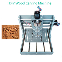 1pc DIY CNC Wood Carving Machine Mini Engraving Machine PVC Mill Engraver Support MACH3 System PCB Milling Machine CNC 2020B