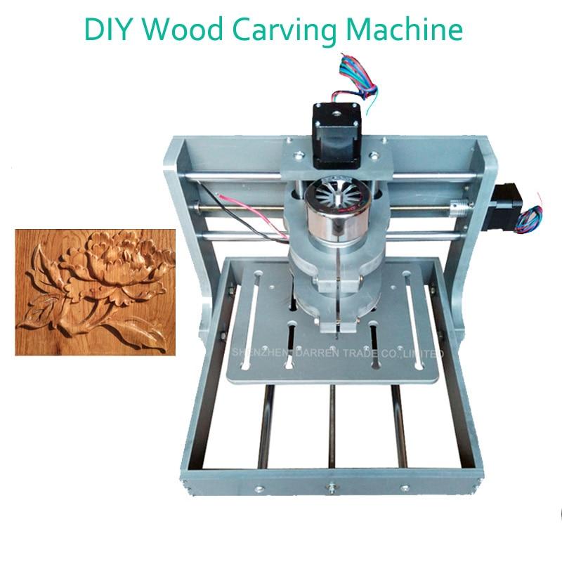 1pc DIY CNC Wood Carving Machine Mini Engraving Machine PVC Mill Engraver Support MACH3 System PCB Milling Machine CNC 2020B