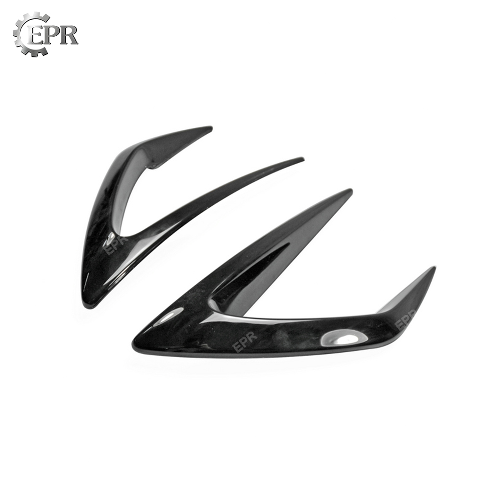 Front Bumper Air Vent Duct Cover Trim For MX5 ND5RC Miata Roadster Carbon Fiber