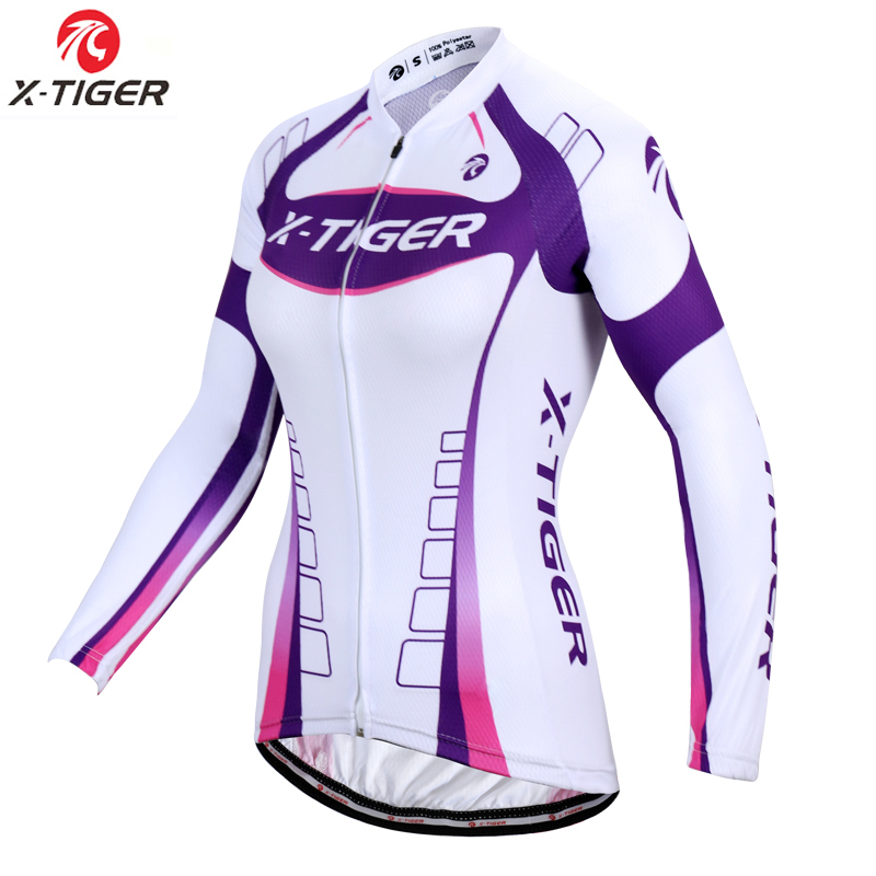 X-Tiger Pro Women Cycling Jersey Autumn MTB Bike Wear Bicycle Clothes Long Sleeve Womens Cycling Clothing Ropa De Ciclismo цены