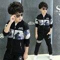 Crianças meninos 2016 crianças de moda na primavera / outono nova coreano crianças lazer esporte terno camisola primavera maré frete grátis