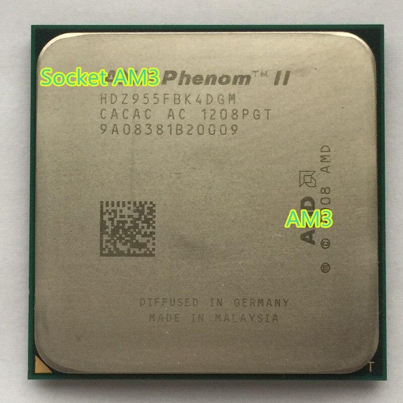 AMD 938 CPU HDZ955FBK4DGM 955x955 Phenom-Ii X4 955 Desktop-Processor Quad-Core 125W AM3