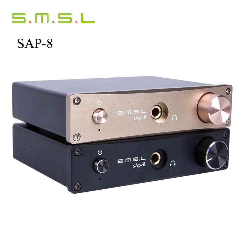 ФОТО SMSL SAP-8 CNC HIFI Home Stereo Headphone Amplifier Amp Desktop Class-A Amplifier with RCA& XLR Balanced input MKP ALPS TOCOS