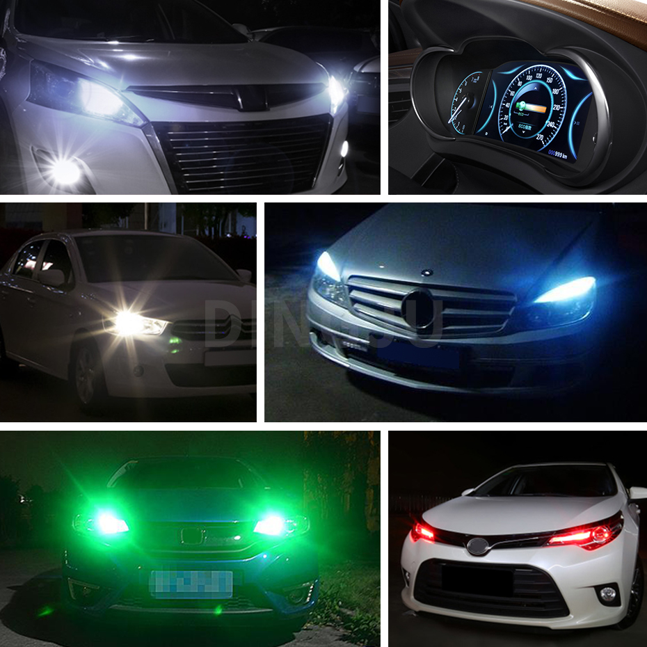 Lampu Senja Led T10 10 Mata Cahaya Putih Biru Merah Dan Hijau Cek Rgb Flashing Jagung Sen Pelangi 4 Colors Red Green White Blue Car Styling W5w Lights Canbus 57