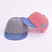 0b07e9223b8 Lindo Casual rayado suave Eaves bebé gorra de béisbol algodón Niño niños  sombreros bebé niños niñas boina sombreros de sol gorra.
