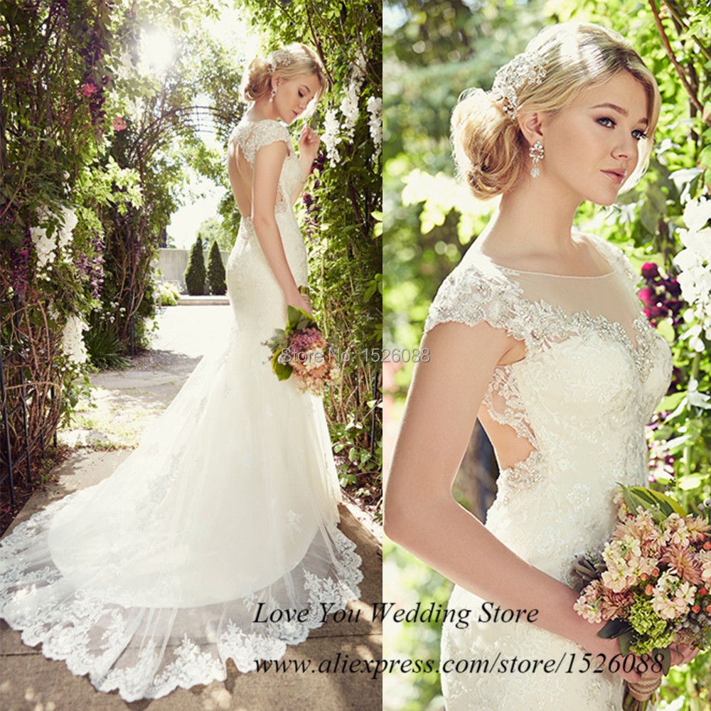 Country Style Vintage Wedding Dress 2015 Lace Bridal Gowns