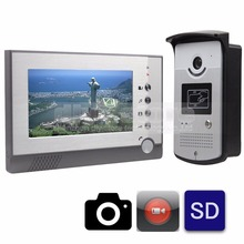Video Record / Photograph 7 inch Wired Video Door Phone Doorbell Home Security Intercom System RFID Camera LED Night Vision
