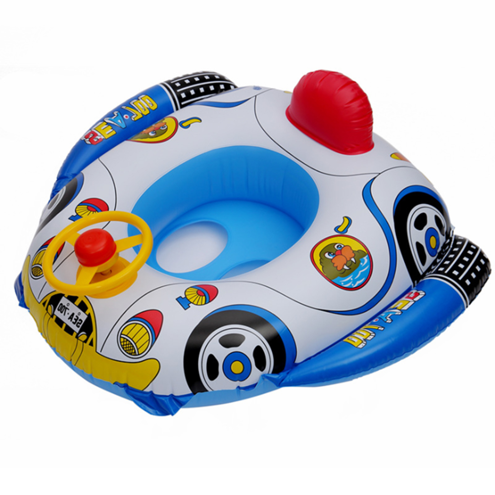Baby Inflatable Swimming Ring Baby Water Toy Seat Car Styling Boat Seat Cartoon Swimming Pool Accessories