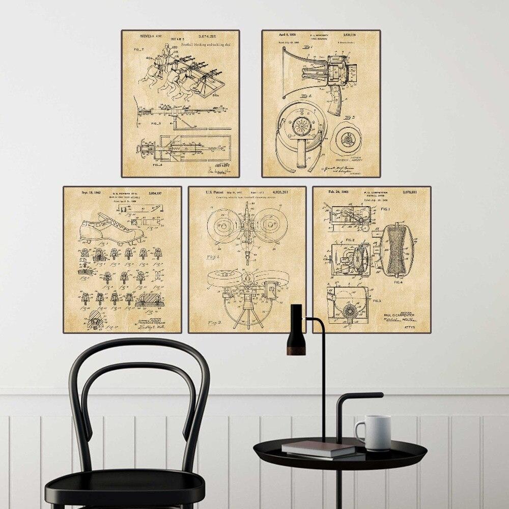 Vintage patent art on American football blocking&tacking sled ...