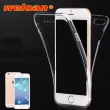 Weloan двусторонний ТПУ чехол для телефона iphone7 8 6 5 plus ультратонкий прозрачный полный охват мягкий чехол для iPhone X XS XR XS MAX