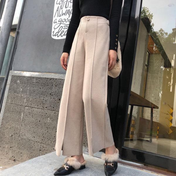 4d4eede8fc505f 2018 Elegant winter woolen women's harem pants ladies thicken wool warm  pants plus size loose sweatpants elastic waist Trouser