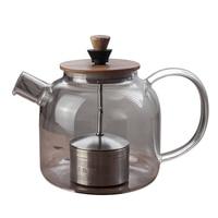 Creative Trolley glass teapot electric ceramic stove Tea pot filter inner black tea Pu'er tea with heat resistant teapot steamer