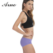 ARNO Women Sexy Panties Solid comfortable Womens Briefs Ladies Breathable Underwears One Size Girls Knickers For Female 6005-1