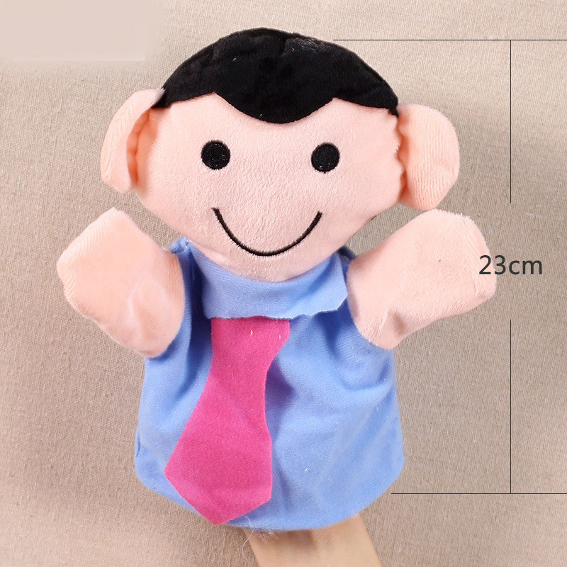 Image 4 - Grandparents mom dad family members Children Hand Puppet kids doll baby plush Stuffed Toy Puppets toys Christmas birthday gift-in Puppets from Toys & Hobbies