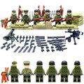 Братья по оружию Мировой Войны Legoelied США Коммандос Армии Пистолет Оружие CS SWAT Военнослужащего цифры Строительные Блоки Игрушка в Подарок