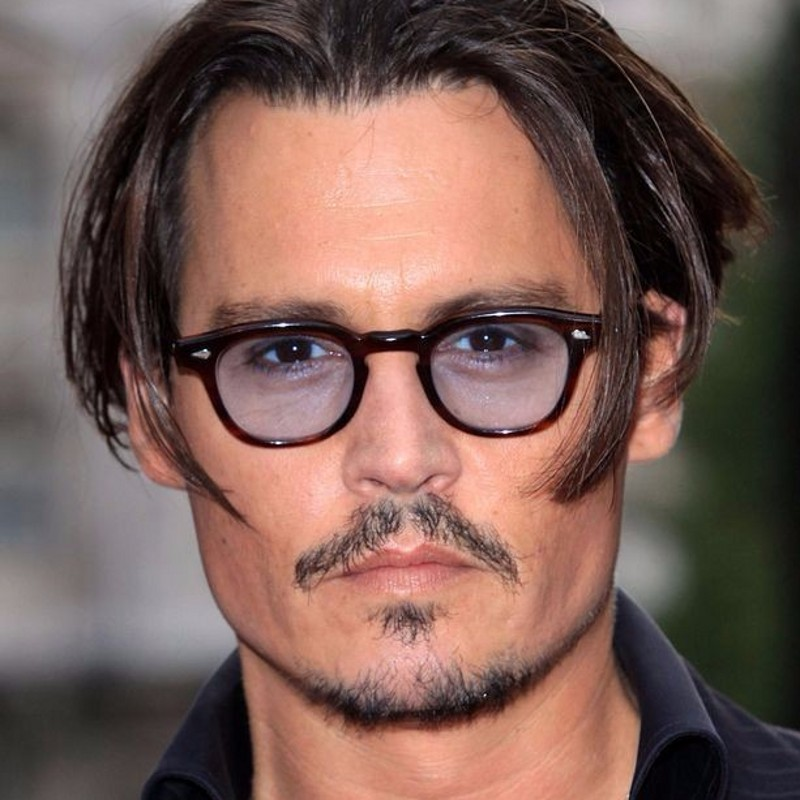 2018 Fashion Johnny Depp Style Round Sunglasses Clear Tinted Lens Brand Design Party Show Sun Glasses Oculos De Sol image