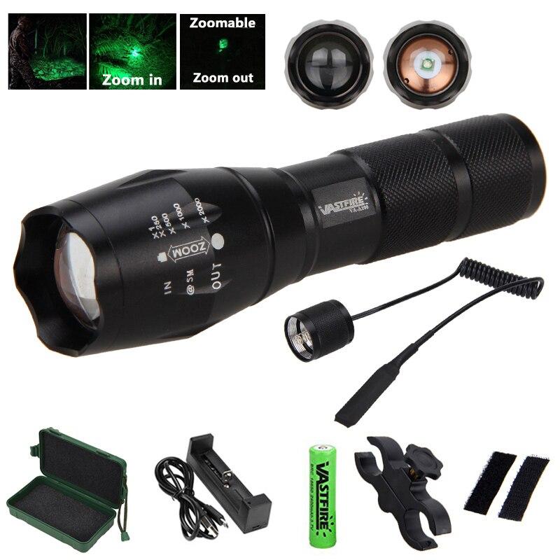 Police DEL lampe de poche tactique 50000 LM XML-T6 Zoomable Torche Lampe 5 Modes