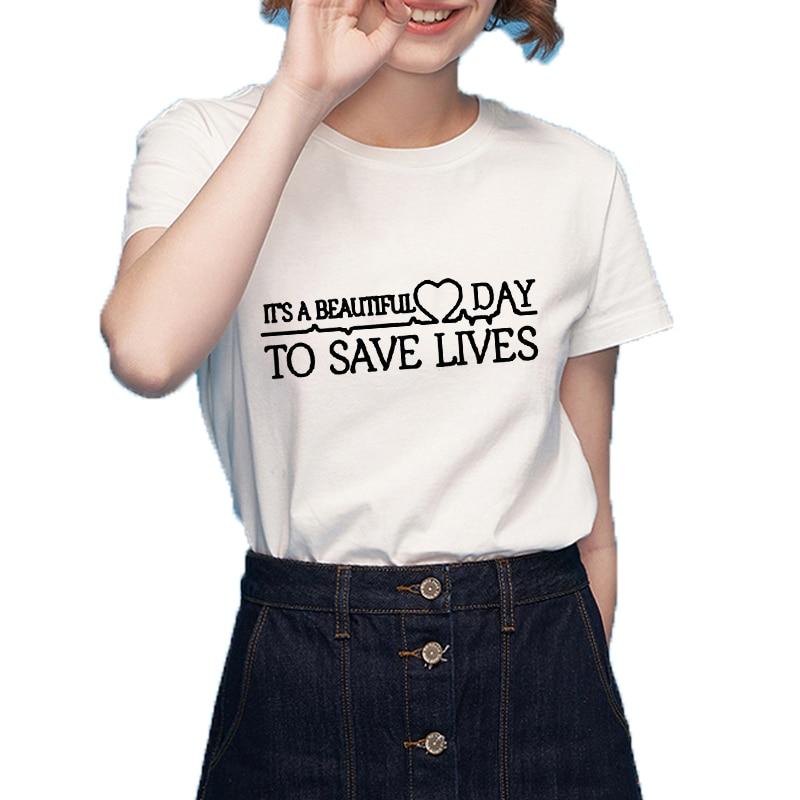 Es un hermoso día para salvar vidas Rosa Tumblr camiseta Casual Tops ...