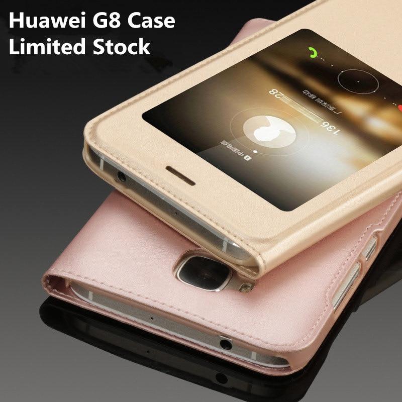 "Fundas Huawei G8 Case Leather Flip Smart Sleep Cover Luxury Carcasa G 8 Coque Accessory Protector Phone Bag Cases Capa 5.5"""