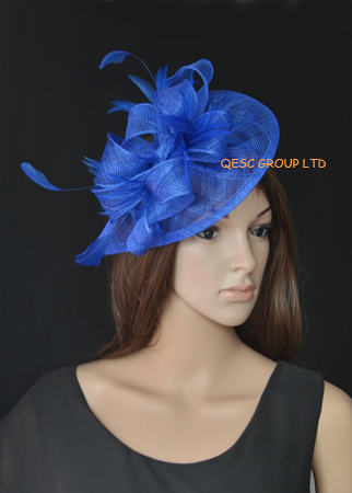 NEW LT silver HOT Sinamay Fascinator Hat for Weeding 513174be2a6