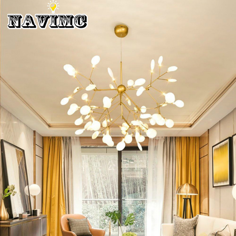 Contemporary Creative Firefly Chandelier Nordic Art Restaurant Lighting Personality Villa Living Room Bedroom LampContemporary Creative Firefly Chandelier Nordic Art Restaurant Lighting Personality Villa Living Room Bedroom Lamp