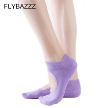 Women Hot Sale 5 Finger Toe Backless Yoga Socks Solid Non-slip Wearproof Ankle Sport Cotton Warm Sox Pilates Dance