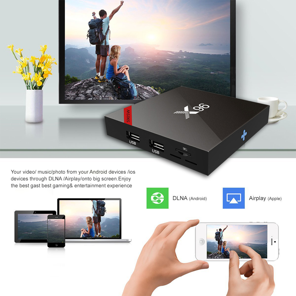 Image 5 - DQiDianZ New Android 9.0 X96 Smart TV BOX S905W Quad Core 2.4G 