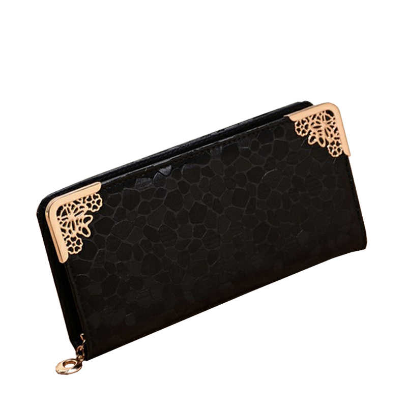 4a0f9410fca ... SMILEY SUNSHINE gold fashion women wallets big coin purse ladies clutch  wallets and purses female wallet