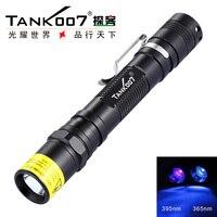 TANK007 AA02 3W 365nm LED Taschenlampe UV Licht japan taschenlampe professional tragbare fluoreszieren durch AA Batterie-in Taschenlampen aus Licht & Beleuchtung bei